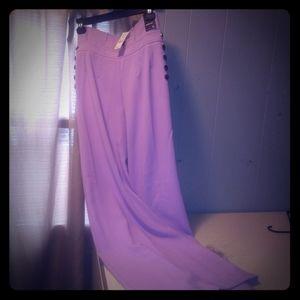 Purple palazzo pants wide leg